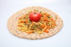 Pasta background. Pasta on white background. Food Royalty Free Stock Images