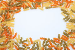 Pasta background. Pasta on white background. Food Royalty Free Stock Image