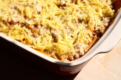 Pasta bake E Royalty Free Stock Images