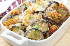 Pasta Bake with Eggplant Royalty Free Stock Photography