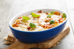 Pasta bake Stock Photography
