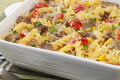 Pasta Bake with Leftover Roast Meat Royalty Free Stock Photography