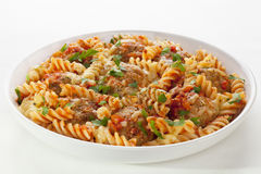 Pasta Bake With Meatballs Stock Photography
