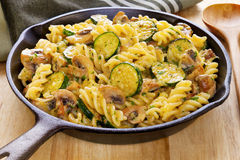 Pasta Bake with Mushrooms and Courgettes Stock Photography