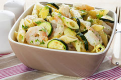 Pasta Bake with Prawns and Zucchini Royalty Free Stock Photos
