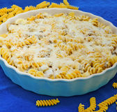 Pasta baking tray Royalty Free Stock Image