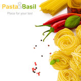 Pasta with basil Royalty Free Stock Image