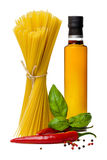 Pasta with basil Royalty Free Stock Photos