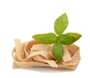 Pasta and basil Stock Photo