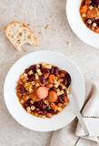 Pasta and Bean Soup Stock Photography