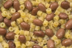 Pasta and beans - close up Royalty Free Stock Photography