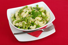 Pasta with Beans and Peas Royalty Free Stock Image