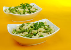 Pasta with Beans and Peas Royalty Free Stock Photo