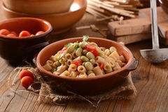 Pasta with beans and tomato Royalty Free Stock Photography