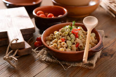 Pasta with beans and tomato Royalty Free Stock Image
