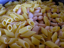 pasta and beans Royalty Free Stock Image