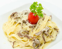 Pasta with beef Royalty Free Stock Photography