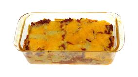 Pasta Beef and Cheese Casserole Royalty Free Stock Photo