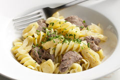 Pasta with beef meat Royalty Free Stock Photo