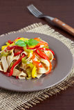 Pasta with bell peppers Royalty Free Stock Images