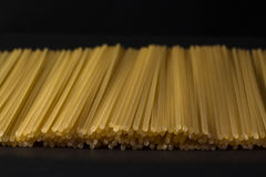 Pasta on a black background Royalty Free Stock Image