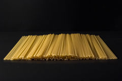 Pasta on a black background Royalty Free Stock Images