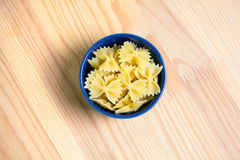 Pasta. In a  blue bowl Stock Photo