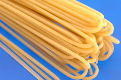 Pasta on the blue fone Royalty Free Stock Photos