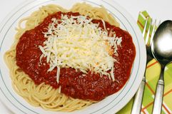 Pasta bolognaise. Stock Image
