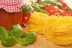 Pasta & Bolognaise Sauce Stock Image