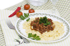 Pasta with Bolognese stock images