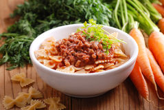 Pasta Bolognese in a bowl Stock Image