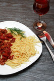 Pasta Bolognese Royalty Free Stock Image