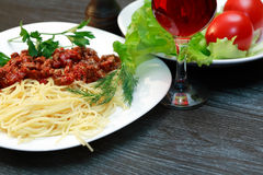 Pasta Bolognese Royalty Free Stock Photo