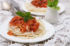 Pasta Bolognese Royalty Free Stock Images