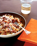 Pasta with bolognese sauce Stock Photo