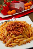 Pasta with bolognese sauce Stock Photos