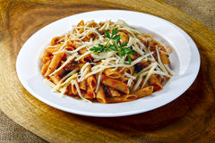 Pasta with bolognese sauce royalty free stock images