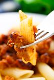 Pasta with bolognese sauce Royalty Free Stock Image