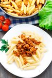 Pasta with bolognese sauce Royalty Free Stock Photography