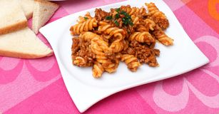 Pasta Bolognese Royalty Free Stock Photography