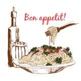 Pasta. Bonappetit! Royaltyfria Foton