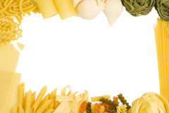 Pasta border 2 stock photography