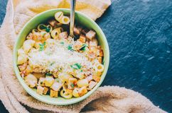 Pasta In Bowl Stock Image
