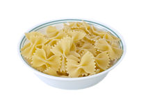 Pasta in a bowl Stock Images