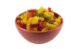 Pasta in a bowl Royalty Free Stock Photo