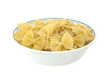 Pasta in a bowl isolated Stock Photos
