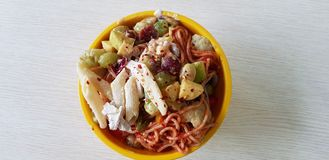 Pasta Bowl top view stock photography