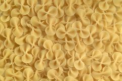 Pasta bows. Dried pasta bows stock photography