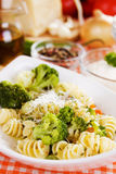 Pasta with broccoli Stock Image